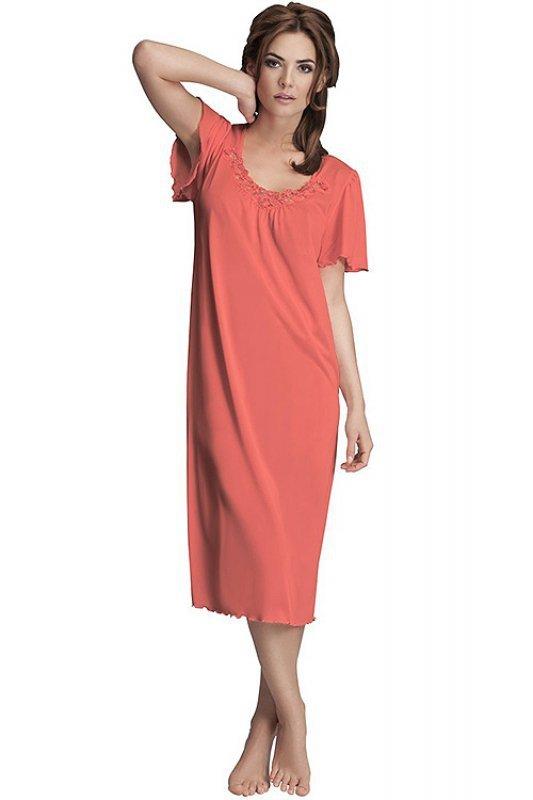 bfa8e62b457bb0 Koszula nocna damska PLUS SIZE 40-58 RED duże rozmiary - XELKA ...
