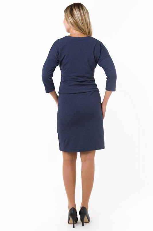 0d960e2bea Sukienka dzienna L-3XL dresowa D-120 Jeans - XELKA odzież damska ...