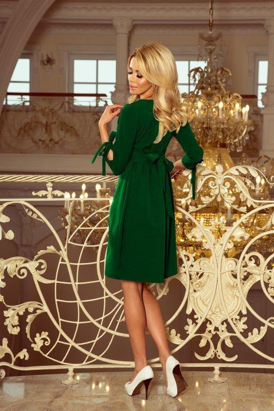 elegancka-sukienka-damska-plus-size-dla-puszystych-xl-xxl-ALICE-rozkloszowana-zielona-wesele-chrzest-komunia-bierzmowanie-tyl
