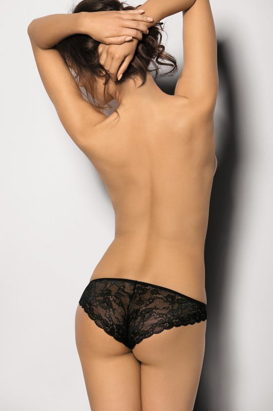 Figi damskie erotyczne M-XXXL PLUS SIZE ANCHE Black duże rozmiary