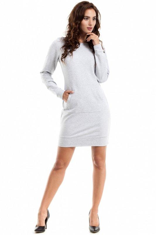 Sukienka Model MOE248 Popiel