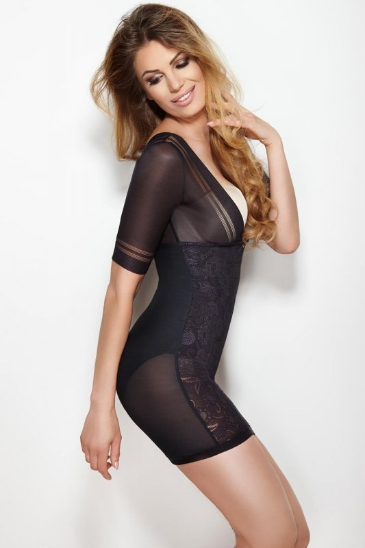 Halka Model Glossy Dress Black
