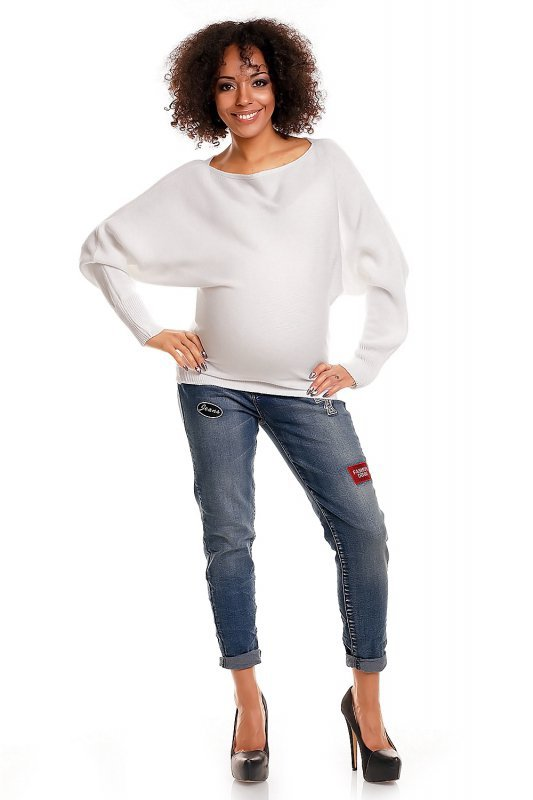 Sweter ciążowy 70003C Biały