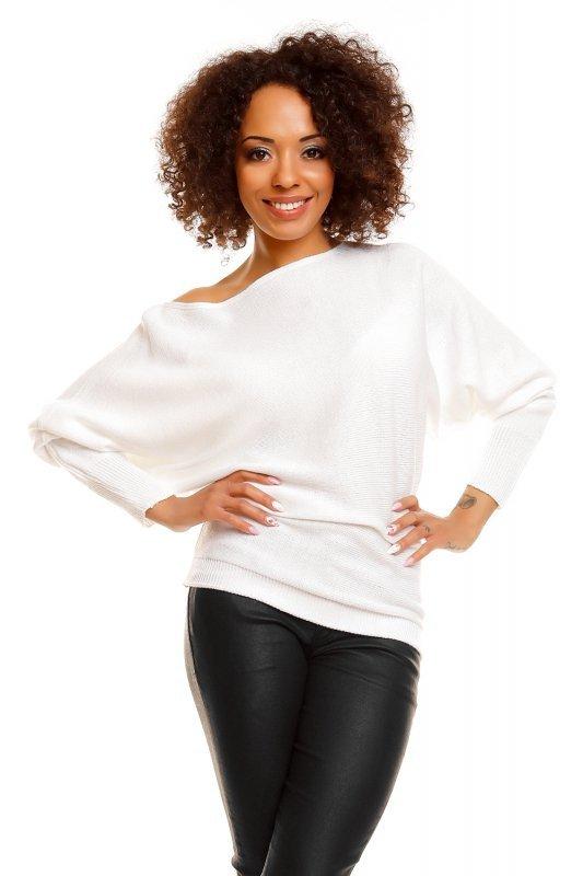 Sweter damski PLUS SIZE 0003 biały