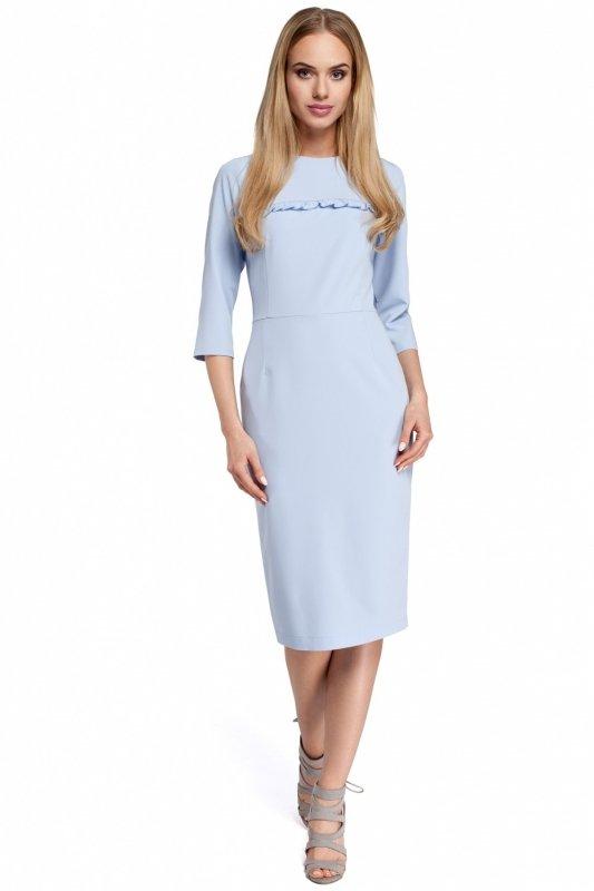 Sukienka Model MOE297 Sky Blue