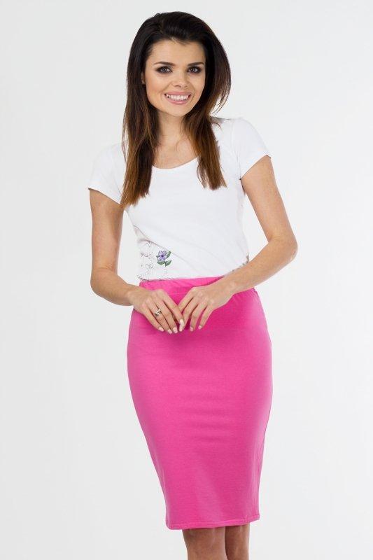 Spódnica dzianinowa S-011 Pink