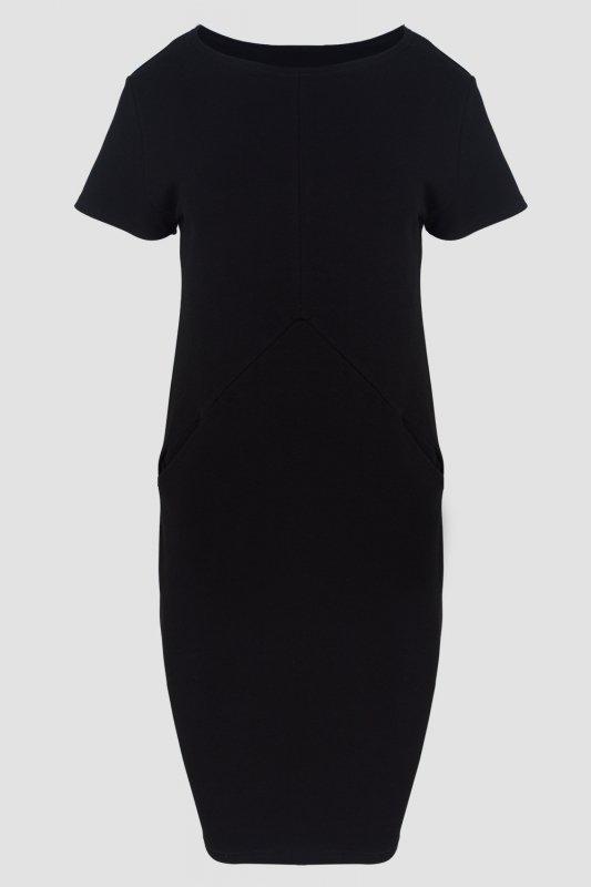 Sukienka-dzienna-xl-xxl-PLUS-SIZE-40-52-dresowa-czarna-D-041-DUZE-ROZMIARY-do-biura