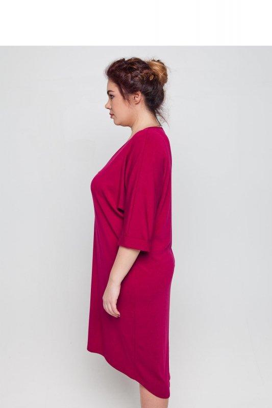 Sukienka-dzienna-plus-size-dla-puszystych-xl-xxl-48-52-Liliowa-bok2