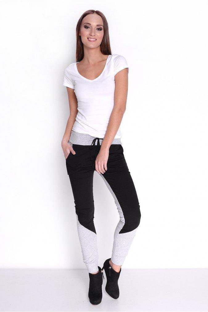 Spodnie damskie dresowe S-3XL DUO CZARNE