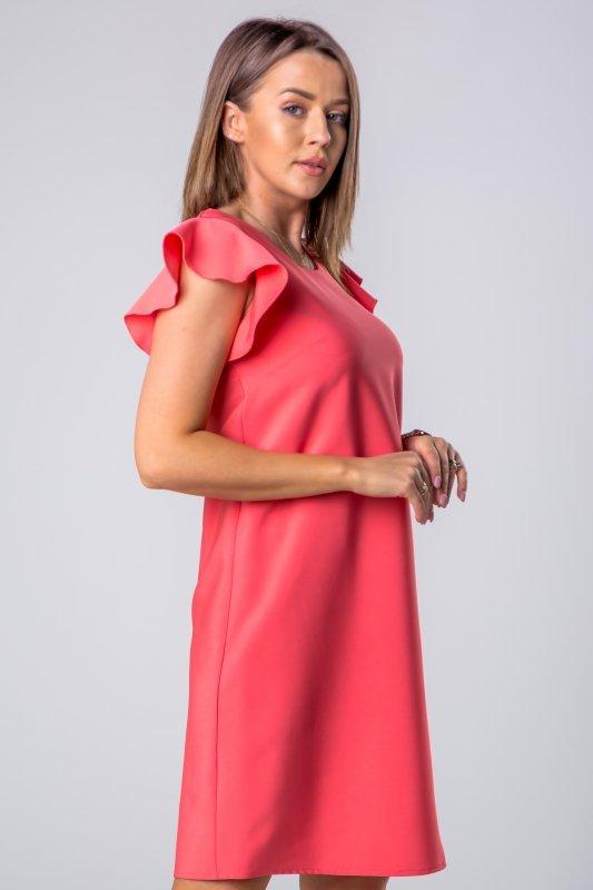 Sukienka z rękawami a'la motyl