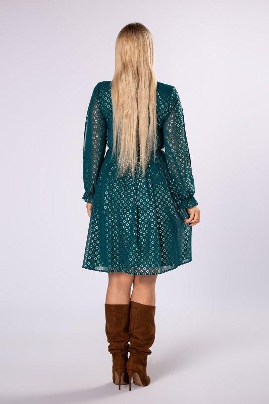Sukienka MINIA rozkloszowana z rozcięciami