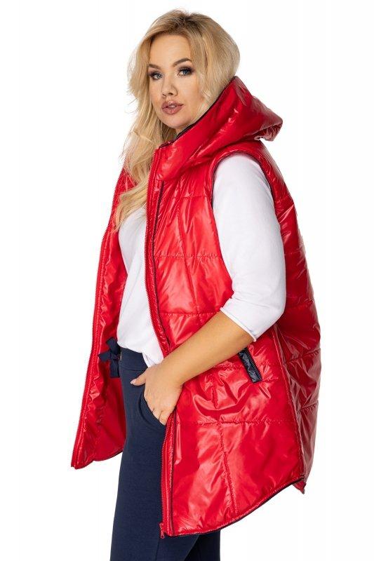 Pikowana-kamizelka-damska-plus-size-z-kapturem-xl-xxl-REDA-czerwona