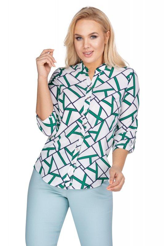 Granatowa-koszula-damska-plus-size-ZIGI3-xl-xxl-z-dekoltem-w-serek-dla-puszystych-do-pracy-elegancka