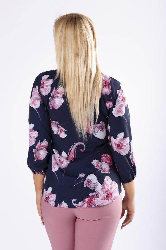 Bluzka FLORAL z wiązaniem przy szyi