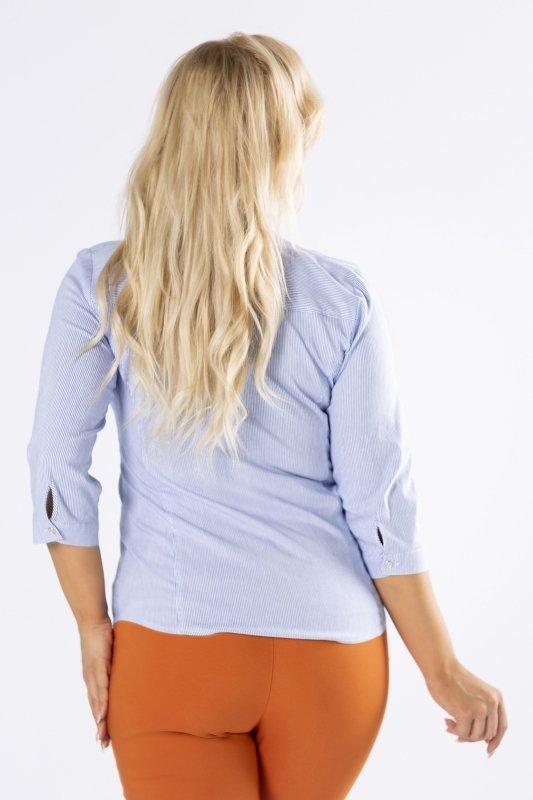 Koszula-damska-plus-size-LISA-w-prazki-z-rekawem-3/4-elegancka-do-biura-xl-xxl