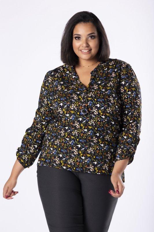 bluzka o koszulowym kroju z guzikami na biuście