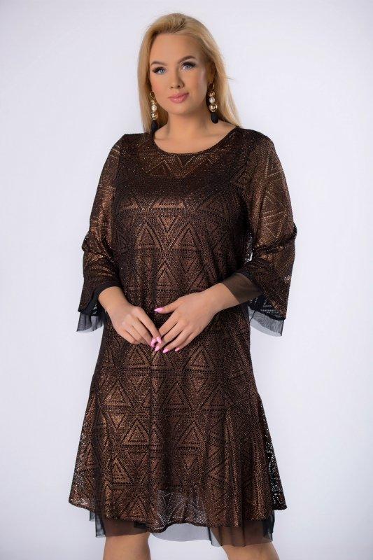 Sukienka brokatowa DIKSI tiulowa