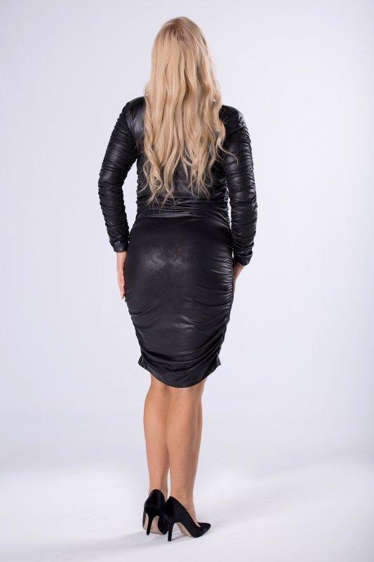 Sukienka SOLAR z imitacji skóry