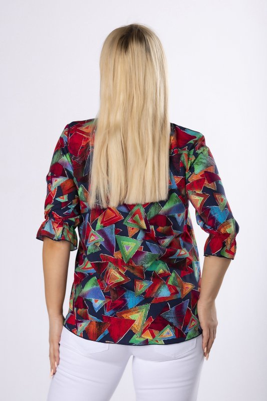 wzorzysta bluzka z baskinką