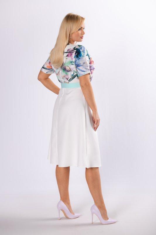 Sukienka rozkloszowana MARGARITA z paskiem
