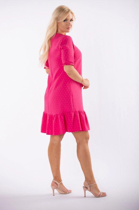 trapezowa sukienka z odcinanym dołem