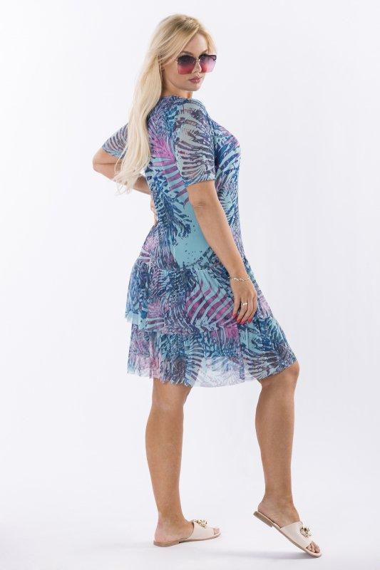 Trapezowa-sukienka-plus-size-WERONA-zwiewna-niebieska-bok