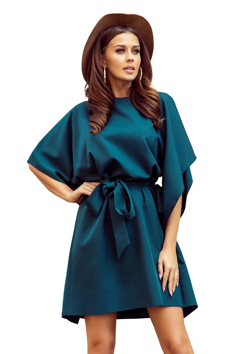 Sukienka-elegancka-plus-size-SOFIA-motyl-maskujaca-luzna-zielona