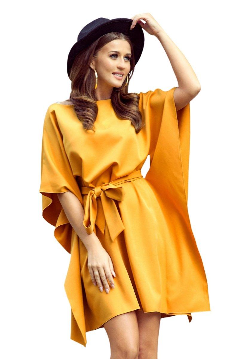 elegancka-sukienka-plus-size-xl-xxl-dla-puszystych-SOFIA-motyl-maskujaca-luzna-zolta