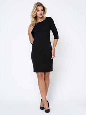 Sukienka-plus-size-XXL-ołowkowa-czarna-elegancka-midi