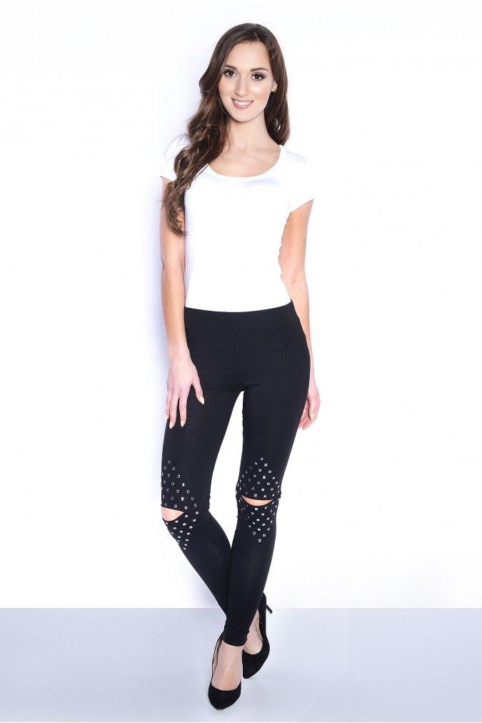Legginsy-damskie-plus-size-PROXY-czarne-dzety-modne-dlugie-online