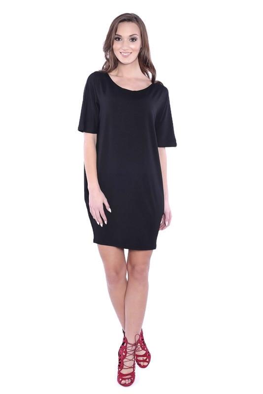 Sukienka-dzienna-plus-size-KESI-krotki-rekaw-czarna
