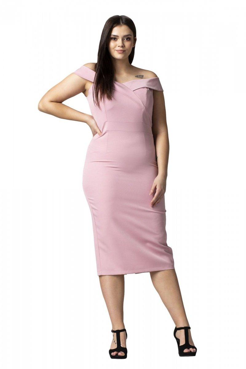Sukienka AURORA opadający dekolt OUTLET