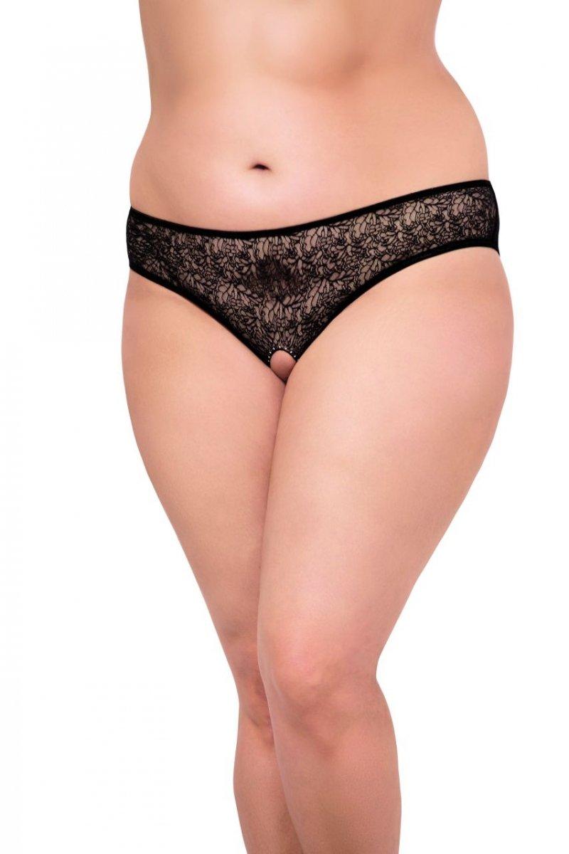 Czarne-majtki-plus-size-figi-otwarte-erotyczne-seksowne-TINA-koronka-kryształy-prezent-przod