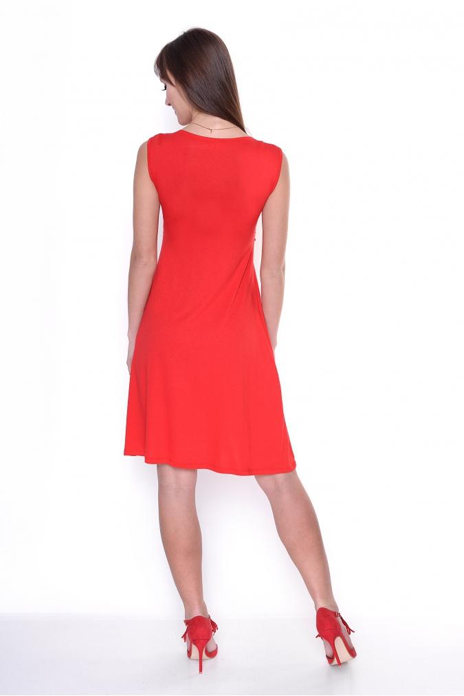 Sukienka-Ciazowa-S-M-L-XL-XXL-3XL-plus-size-LUNA-dla-puszystych-czerwona-tyl