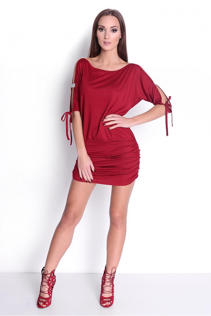 Tunika-sukienka-mini-damska-PLUS-SIZE-sexy-SARA-S-M-L-XL-XXL-XXXL-bordowa-diamenty-blysk-na-impreze-karnawal-seksowna-przod
