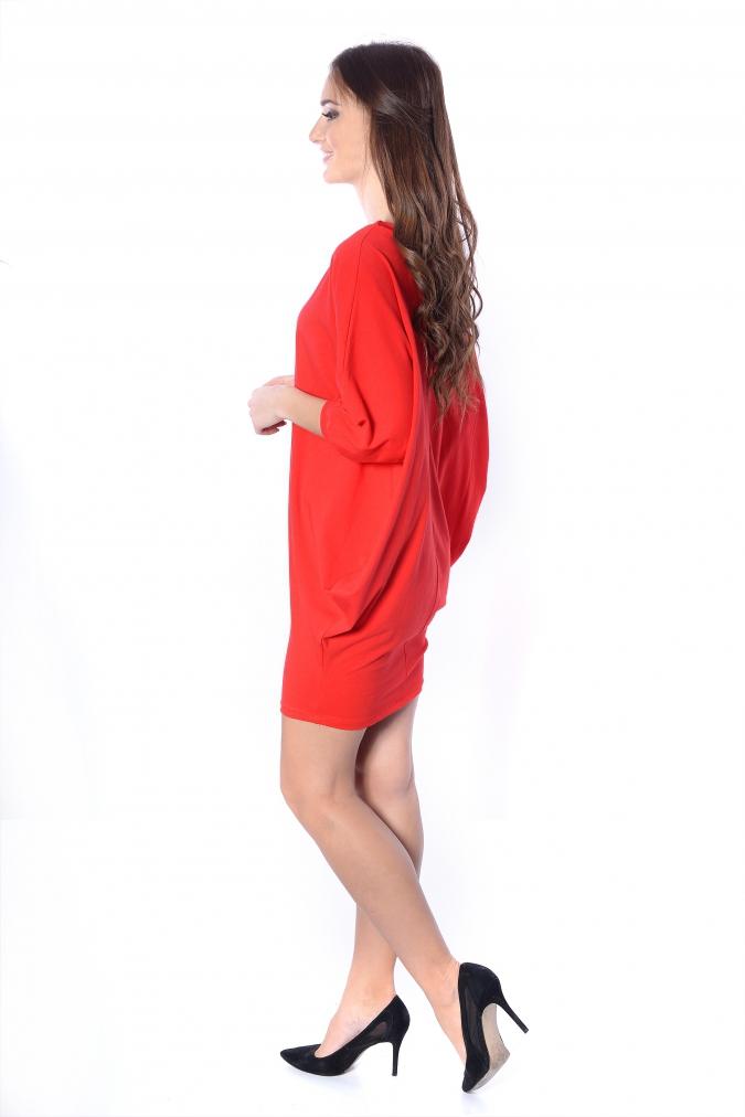 Sukienka-plus-size-/-tunika-oversize-NIETOPERZ-xl-xxl-czerwona-luzna-na-impreze-bok