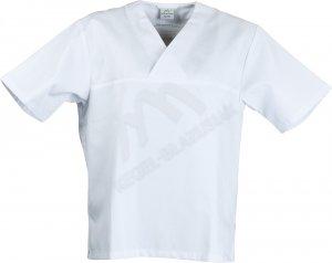 Bluza w Serek krótki rękaw