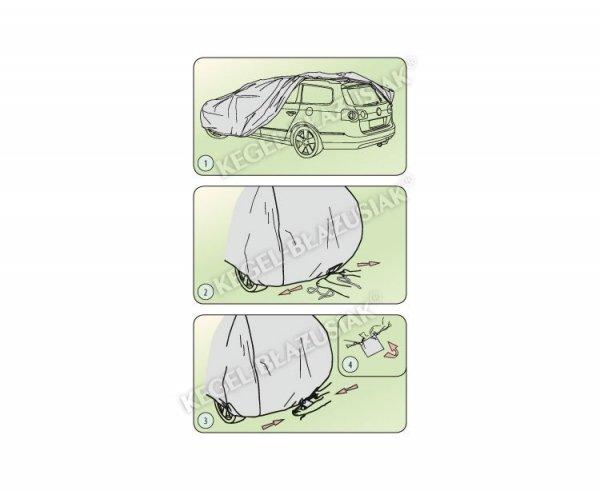 Pokrowiec na samochód MOBILE GARAGE roz. XXL sedan