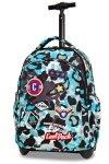 Plecak CoolPack JUNIOR na kółkach niebieskie moro w znaczki CAMO BLUE BADGES (24190)