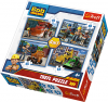 TREFL Puzzle 4 w 1 Bob Budowniczy (34270)