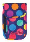 Portfel saszetka na szyję CoolPack TOURIST w kolorowe kropki, LOLLIPOPS (49450CP)