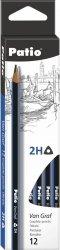 Ołówek techniczny trójkątny VanGraf 2H PATIO (44509PTR)