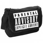 Torba na ramię młodzieżowa Parental Advisory Explicit Content czarna (PAA582)
