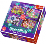 TREFL Puzzle 4 w 1 Enchantimals, Zabawa z pupilami (34305)