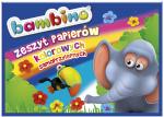 ZESZYT PAPIERÓW KOLOROWYCH samoprzylepnych B4 BAMBINO (01819)