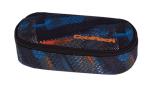 Piórnik szkolny COOLPACK CAMPUS w niebiesko - pomarańczowe wzory, TIRE TRACKS 756 (73417)