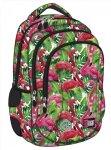 Plecak wczesnoszkolny ST.RIGHT w egzotyczne rośliny i flamingi, FLAMINGO PINK & GREEN BP26 (19410)