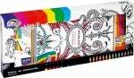 Zestaw do kolorowania Rock Your Mind, Książka + 12 pisaków + 14 kredek ołówkowych (150-1389)