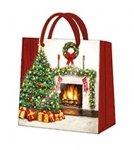 Torebka świąteczna CHRISTMAS INTERIOR, Paw (AGB019310)