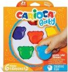 Kredki Misie Misiaki BABY dla dzieci 1+ 6 kolorów CARIOCA (160-2209)
